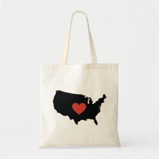 United States Love Book Bag or Travel Tote