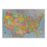 United States Map 3 Poster