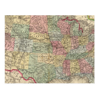 United States Map by Mitchell Postcard
