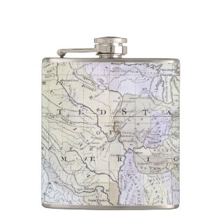 UNITED STATES MAP, c1812 Hip Flask