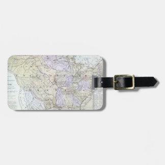 UNITED STATES MAP, c1812 Luggage Tag
