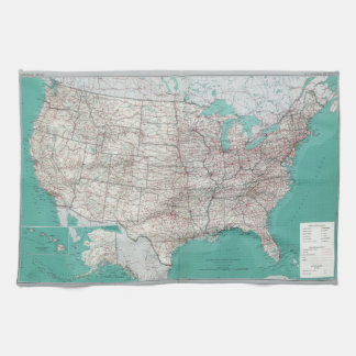 United States Map Kitchen Towel