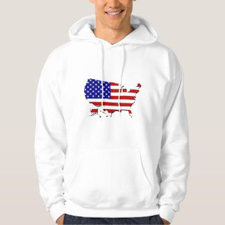 United States Map & Stars-N-Stripes Flag Hoodie