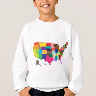 United States Map Sweatshirt