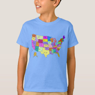 United States Map T-Shirt