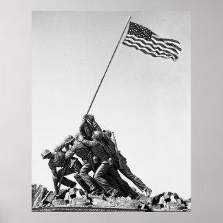 United States Marine Corps Flag Raising Poster