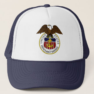United States Merchant Marine Seal Sailors Trucker Hat