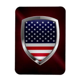 United States Metallic Emblem Rectangular Photo Magnet