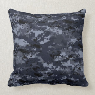 United States Military Blue Camouflage Pillow