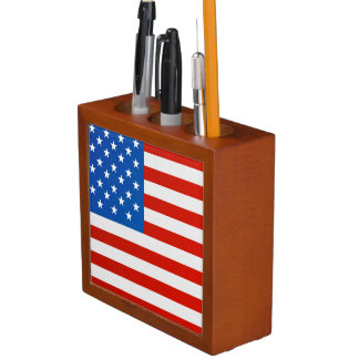 United states national flag desk organizer