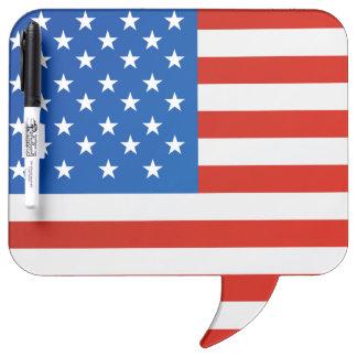 United states national flag dry erase board
