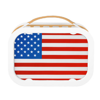 United states national flag lunch box