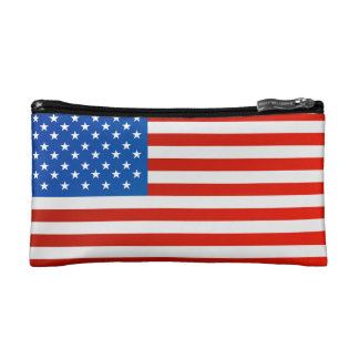 United states national flag makeup bag
