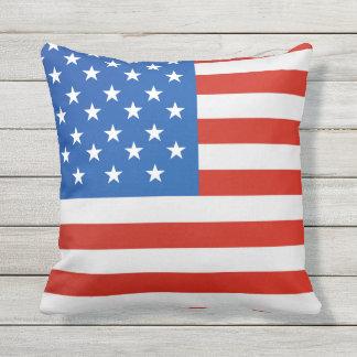 United states national flag throw pillow