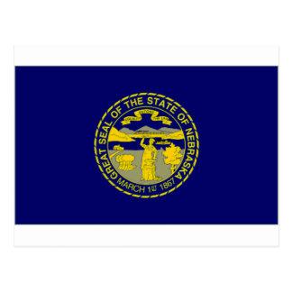 United States Nebraska Flag Postcard