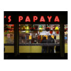 United States, New York. Grey's Papaya: window Postcard