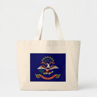 United States North Dakota Flag Tote Bag