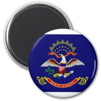 United States North Dakota Flag Fridge Magnet