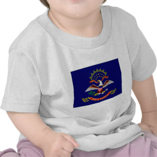 United States North Dakota Flag T Shirt