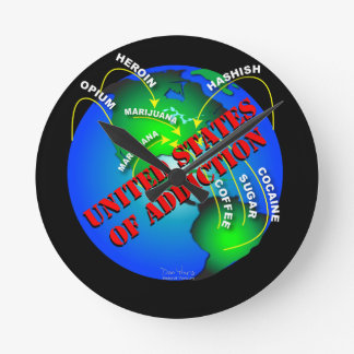 United States of Addiction Round Clock