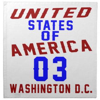 United States Of America 03 Washington D.C. Napkin