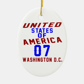United States Of America 07 Washington D.C. Ceramic Oval Ornament