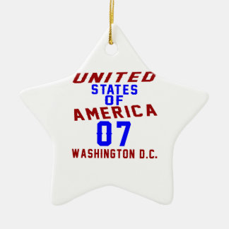 United States Of America 07 Washington D.C. Ceramic Star Ornament
