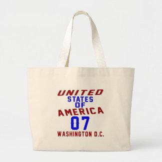 United States Of America 07 Washington D.C. Large Tote Bag
