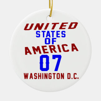 United States Of America 07 Washington D.C. Round Ceramic Ornament