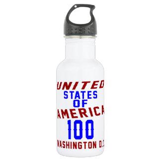 United States Of America 100 Washington D.C. 532 Ml Water Bottle