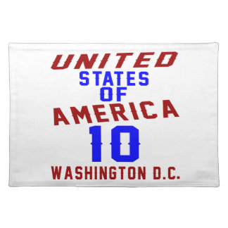 United States Of America 10 Washington D.C. Placemat