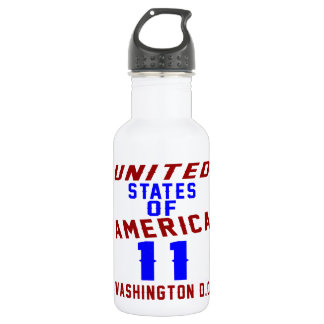 United States Of America 11 Washington D.C. 532 Ml Water Bottle