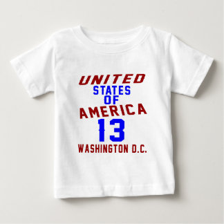 United States Of America 13 Washington D.C. Baby T-Shirt