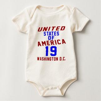 United States Of America 19 Washington D.C. Baby Bodysuit