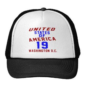 United States Of America 19 Washington D.C. Trucker Hat
