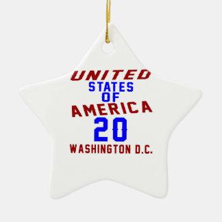United States Of America 20 Washington D.C. Ceramic Star Ornament