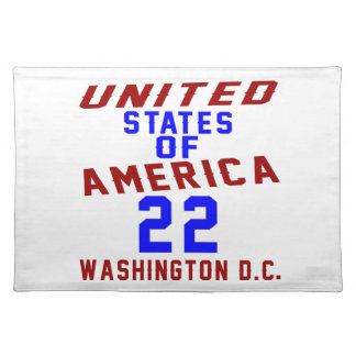 United States Of America 22 Washington D.C. Placemat