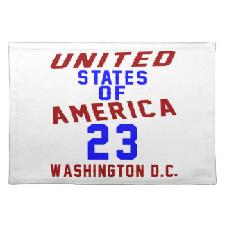 United States Of America 23 Washington D.C. Placemat