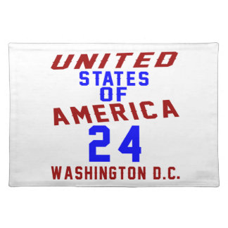 United States Of America 24 Washington D.C. Placemat