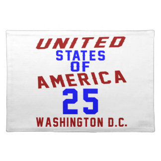 United States Of America 25 Washington D.C. Placemat