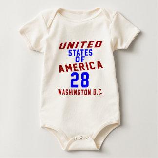 United States Of America 28 Washington D.C. Baby Bodysuit