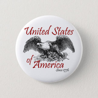 United States of America 2 Inch Round Button