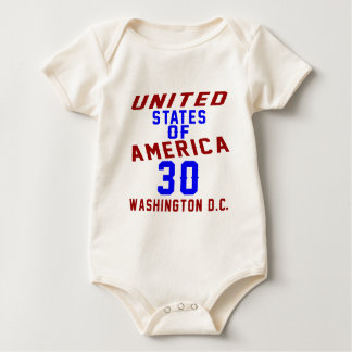 United States Of America 30  Washington D.C. Baby Bodysuit