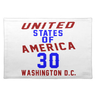 United States Of America 30  Washington D.C. Placemat