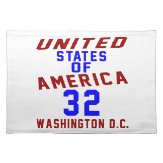 United States Of America 32 Washington D.C. Placemat