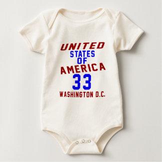 United States Of America 33 Washington D.C. Baby Bodysuit