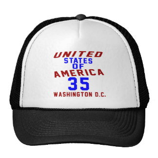 United States Of America 35 Washington D.C. Trucker Hat