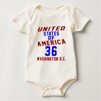 United States Of America 36 Washington D.C. Baby Bodysuit