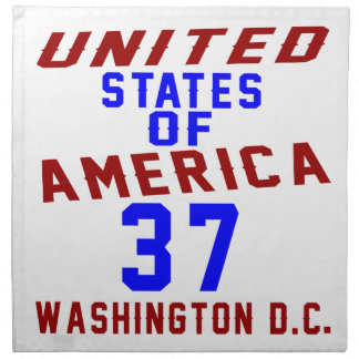 United States Of America 37 Washington D.C. Napkin