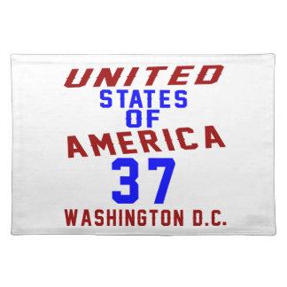United States Of America 37 Washington D.C. Placemat